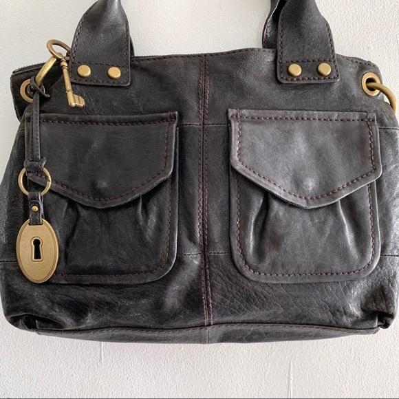 42acc30835 Fossil Handbags - Fossil Long Live Vintage Black 2 Pocket Satchel